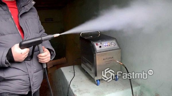 Очистка поверхности парогенератором