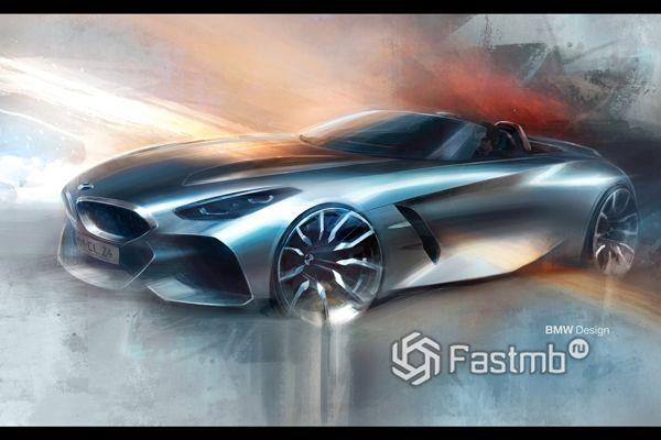 Предварительный дизайн нового родстера BMW Z4