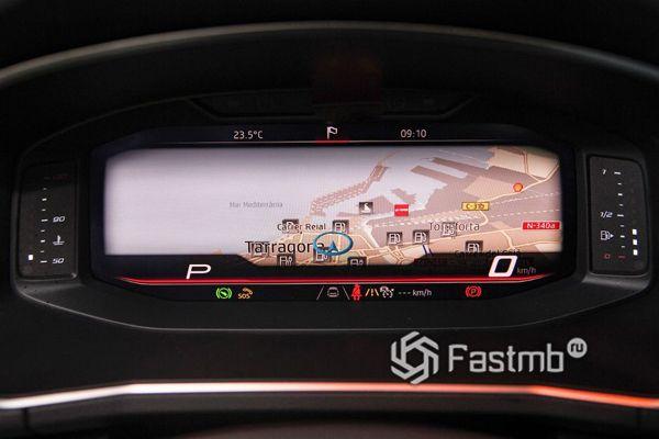 Навигация на панели приборов