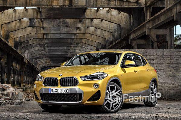 Передняя оптика и решетка радиатора BMW X2 2018