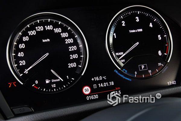 Панель приборов дизельного BMW X2 2019