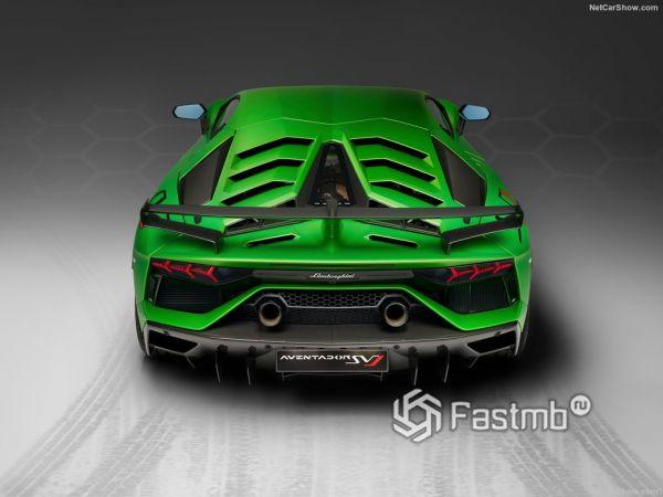Lamborghini Aventador SVJ 2019, вид сзади