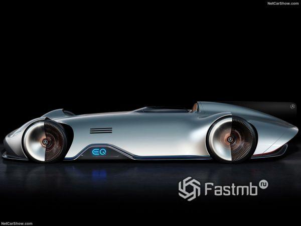 Mercedes-Benz Vision EQ Silver Arrow Concept 2018, вид сбоку