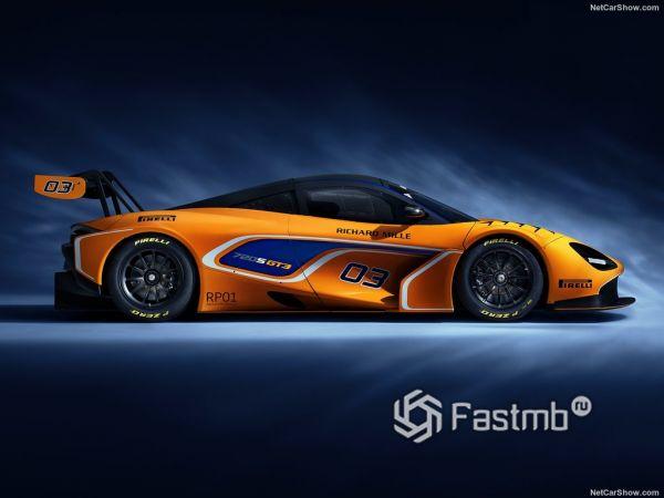 McLaren 720S GT3 2019, вид сбоку