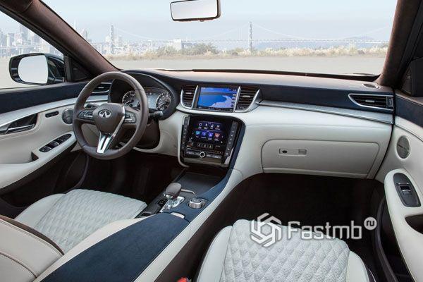 Интерьер топовой комплектации Infiniti QX50 2019