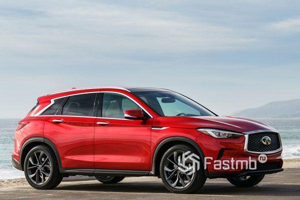 Красный кузов Infiniti QX50 2019