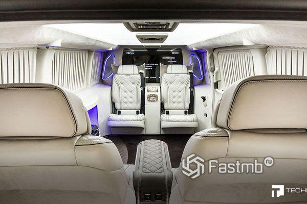 Один из вариантов оформления интерьера лимузина