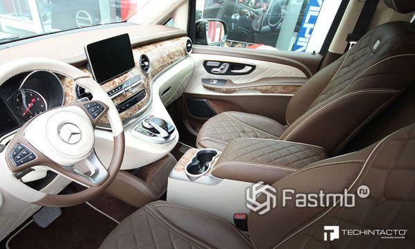 Водительское место нового Mercedes V-Class Limousine