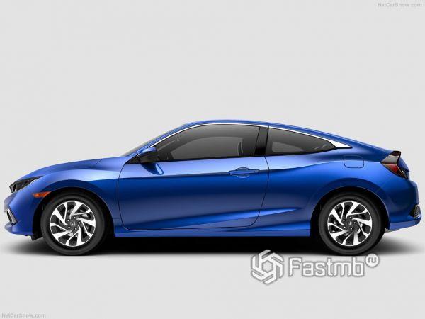 Варианты исполнения и цены Хонда Сивик купе 2019 года