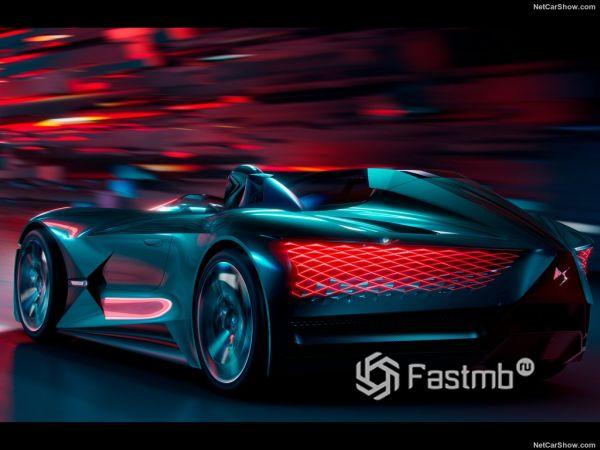 DS X E-Tense Concept 2018, вид сзади и сбоку слева