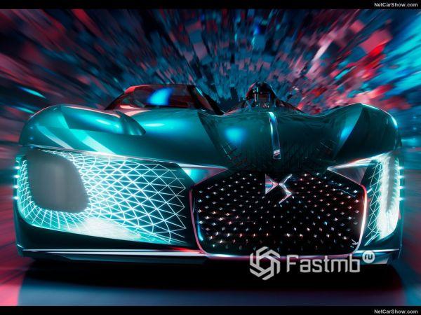 Экстерьер и интерьер DS X E-Tense Concept, вид спереди