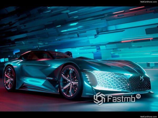 DS X E-Tense Concept 2018: ассиметричный гиперкар из далёкого будущего