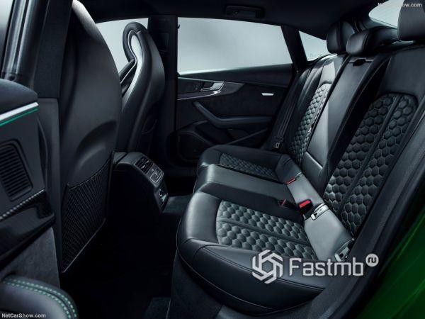 Audi RS5 Sportback 2019, задние кресла