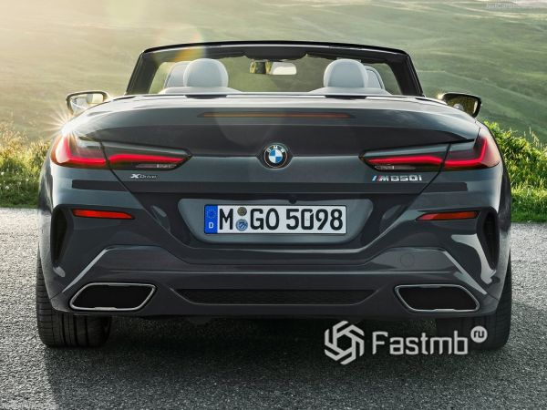 BMW 8-Series Convertible 2019, вид сзади