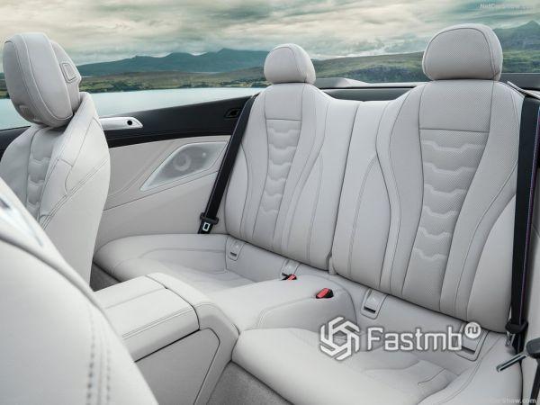 BMW 8-Series Convertible 2019, задние кресла