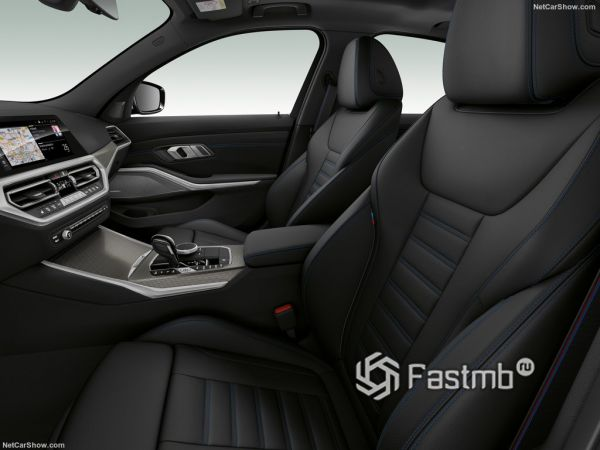 седан БМВ M340i xDrive 2020 года, передние сидения