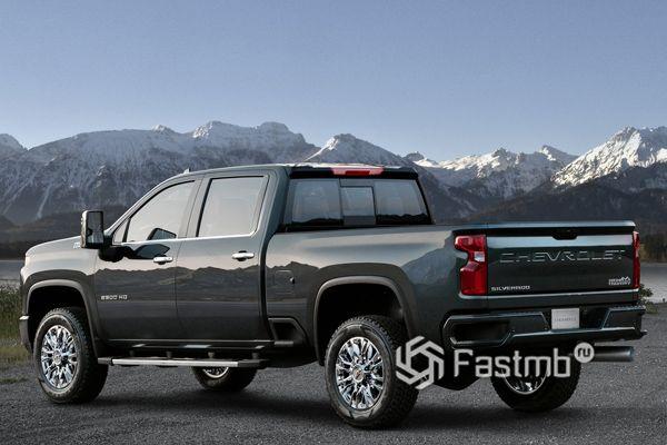 Chevrolet Silverado HD 2020, вид сбоку