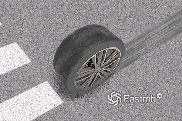 Износ шин автомобиля