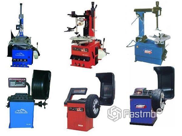 Типы шиномонтажного оборудования