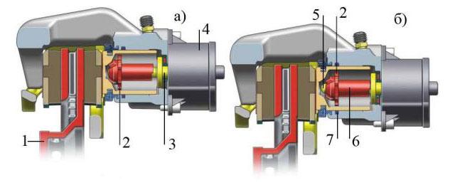 Схема работы электромеханического стояночного тормоза