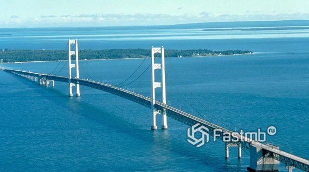 Мост Макинак испытывает силу ветра в 50 км/ч