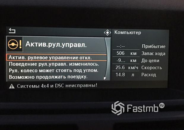 Управление активным рулевым управлением в BMW