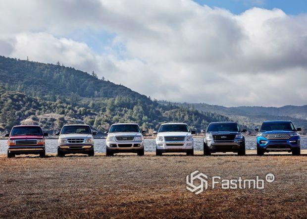 Шесть поколений Ford Explorer