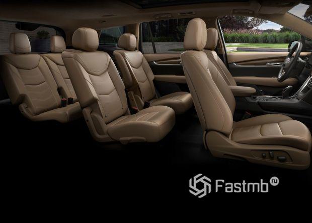 Интерьер Cadillac XT6 2020