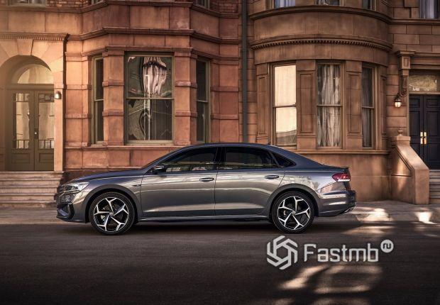 Volkswagen Passat 2020, вид сбоку