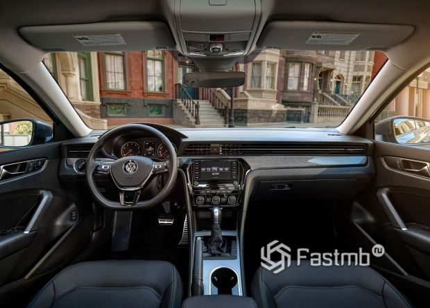 Интерьер нового Volkswagen Passat USA 2020