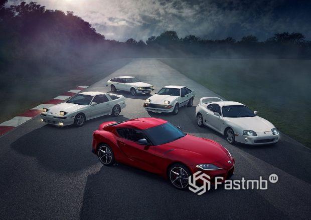 Пять поколений Toyota Supra 2020