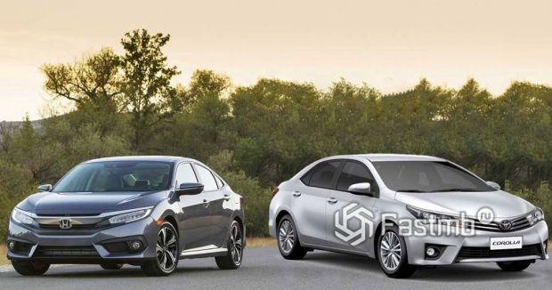 Honda Civic и Toyota Corolla