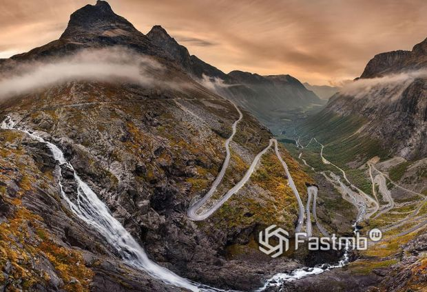«Лестница троллей» (Норвегия, Trollstigen)