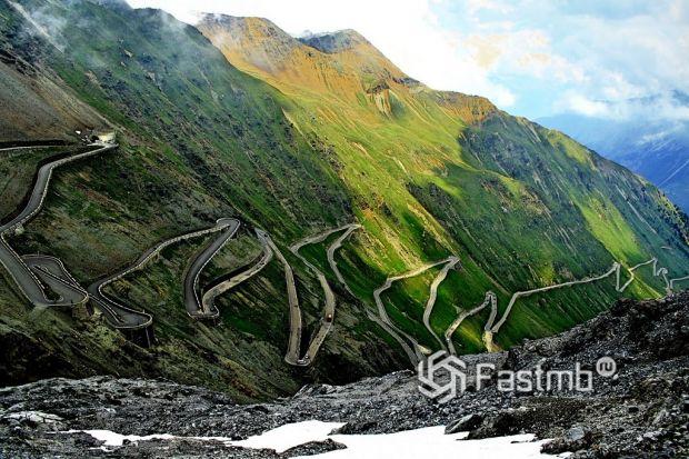Горная дорога Стельвио (Итальянские Альпы, Stelvio Pass)