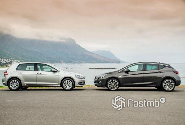 Достоинства, недостатки и характерные поломки Opel Astra и VW Golf