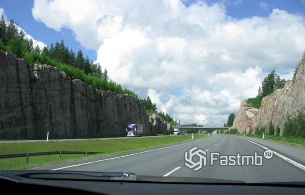 дорога в Финляндии