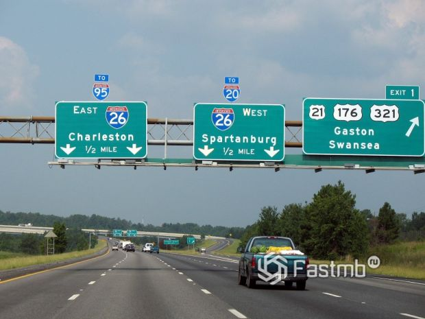 Трасса I-26, Южная Каролина