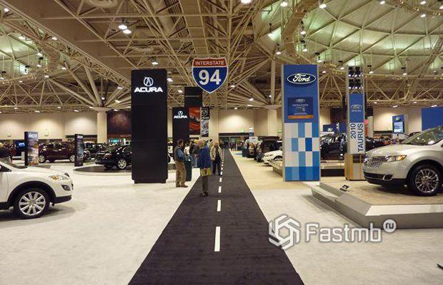 Автомобильная выставка в США