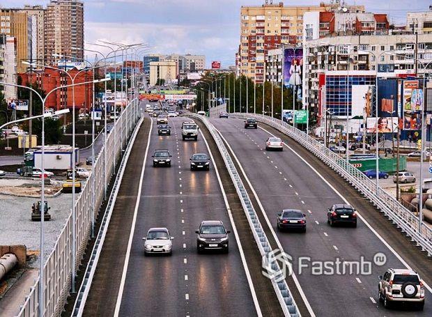 дороги в Тюмени