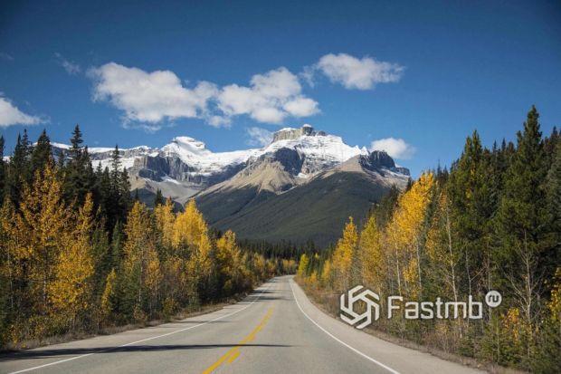 автодорога в Канаде