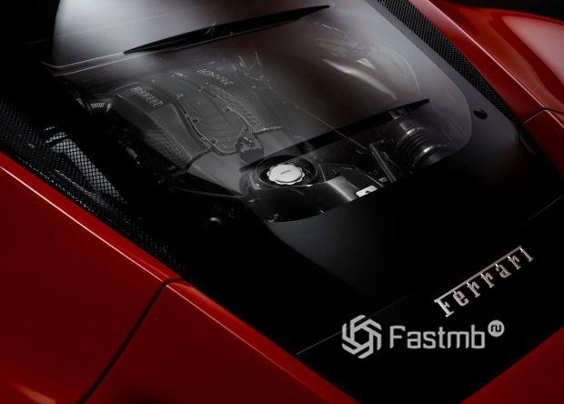 Крышка двигателя Феррари Ф8