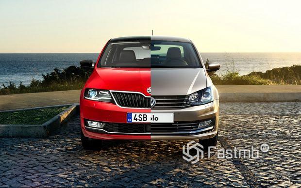 Volkswagen Polo vs Skoda Rapid