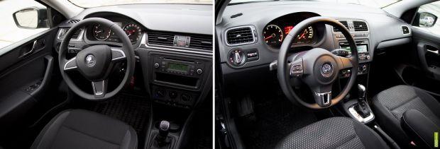 салон Volkswagen Polo vs Skoda Rapid