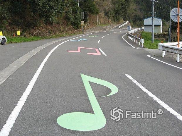 «Поющие» дороги в Японии