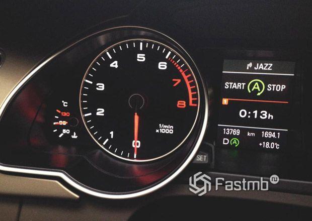 Индикатор активной системы Старт Стоп двигателя