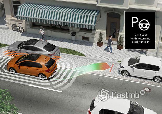 Индикатор активации автоматической парковки