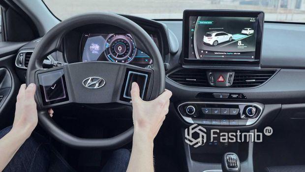Сенсорные панели на рулевом колесе Hyundai i30