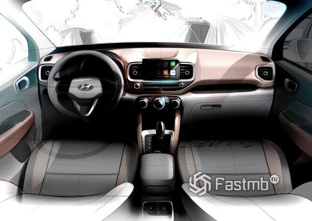 Интерьер компактного Hyundai Venue