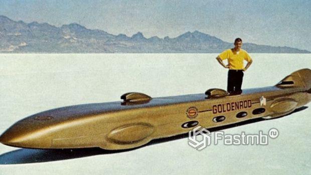 Goldenrod Land Speed Race Car