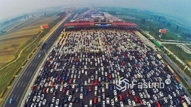 50-полосная дорога в Китае